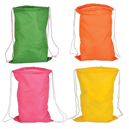 Junior Drawstring Backpack (Set of 50- Promotional Mini Junior/Kids Drawstring Backpack (Mix Colors))