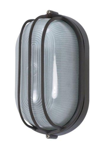 Nuvo Lighting 60/525 Bulkhead 1-Light Oval Cage 60W A19, Architectual Bronze - Light Fixtures Oval Bulkhead Cage
