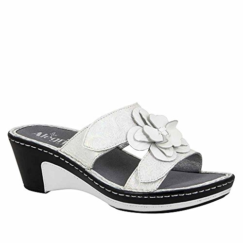 Alegria Womens Lana Wedge Sandal Pearl Rose Size 38 EU (8-8.5 M US Women) by Alegria