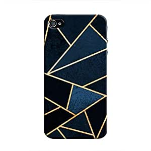 Cover It Up - Dark Blue Fractures iPhone 4/4s Hard Case