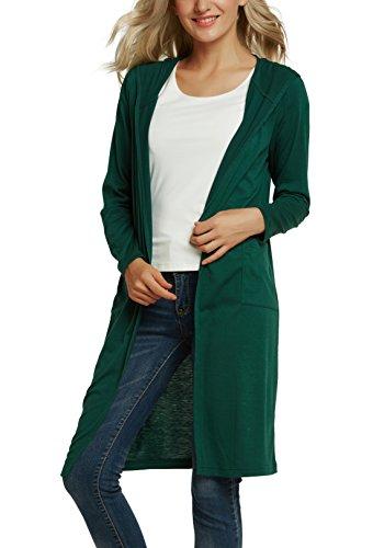 (アーバン ココ)[Urban CoCo]レディース ロング カーディガン 薄手 ポケット付き UVカット シンプル 無地 長袖 羽織り 冷房対策