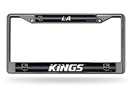 FCGL6901 NHL Bling Chrome License Plate Frame with Glitter Accent Rico Industries Inc
