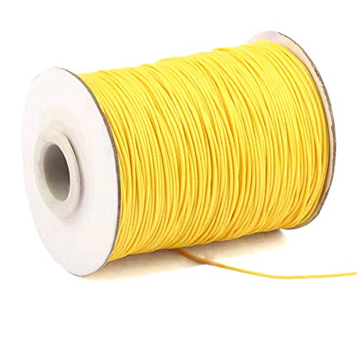 Yzsfirm 1 Roll 1mm Waxed Cord 175 Yards Thread Spool String Yellow Tag Rope for Jewelry Sewing and Necklace Shoelaces DIY Making