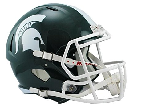 NCAA Michigan State Spartans Full Size Speed Replica Helmet, Green, Medium by Riddell