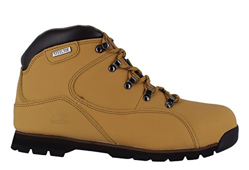 Groundwork Chaussures de sécurité pour homme avec coque en acier Noir 43 - Beige - Miel, 7 UK