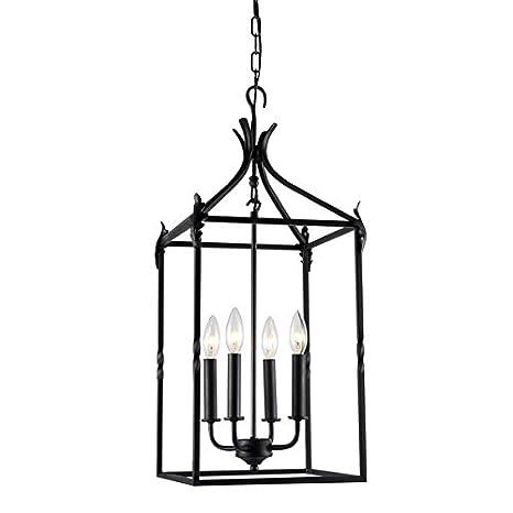 Beatriz 4 light black classic iron hanging lantern chandelier beatriz 4 light black classic iron hanging lantern chandelier mozeypictures Images