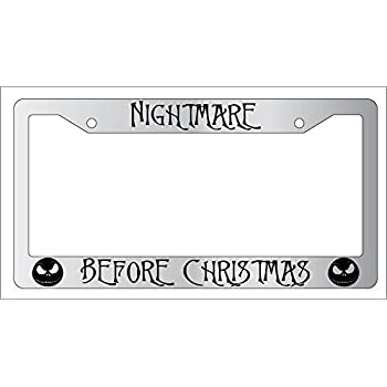 Amazon.com: Chrome License Plate Frame Nightmare Before Christmas ...