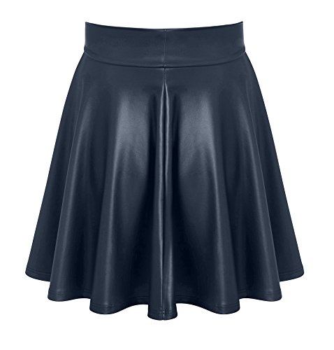 69a3aad7fd24f Womens Faux Leather Skater Skirt Short a Line Mini Skirt - Made in USA at  Amazon Women s Clothing store