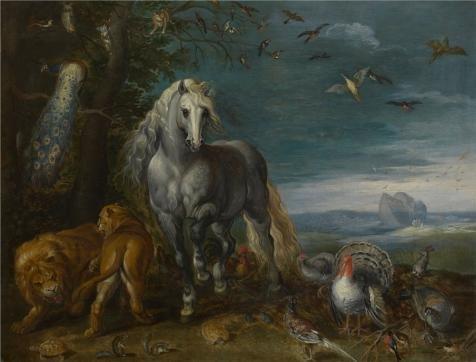The Perfect Effectキャンバスの油絵` Jan Van Kessel I–Noah `s Ark、17世紀」、サイズ: 8x 11インチ/ 20x 27cm、この高解像度アート装飾プリントキャンバスは、フィットのランドリールーム装飾、ホーム装飾、ギフトの商品画像