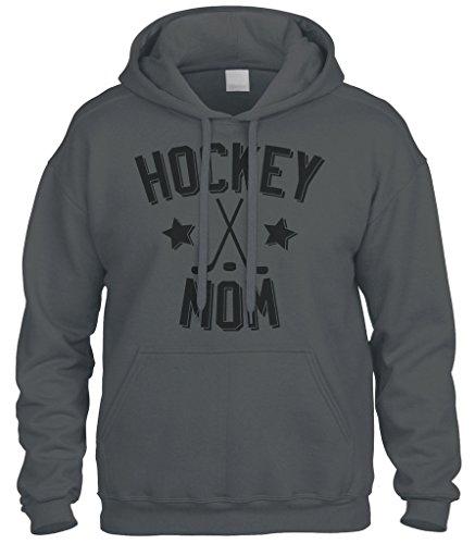 Cybertela Mother's Day Gift Hockey Mom Sweatshirt Hoodie Hoody (Charcoal, - Sweatshirt Mom Hockey