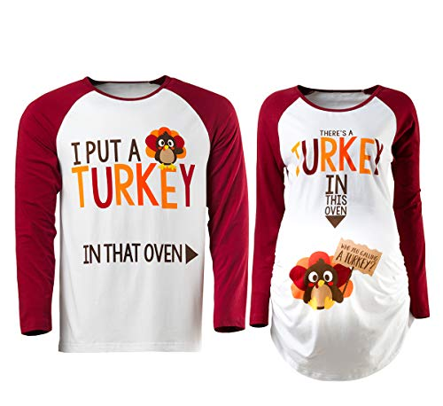 Detigee Womens Halloween Pregnancy T-Shirt Skeleton Costume Maternity Tops