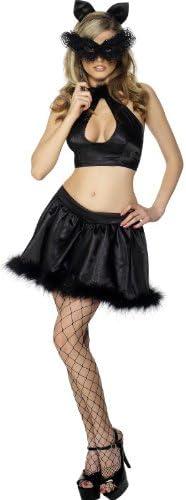 Desconocido Disfraz de gata negra sexy para mujer: Amazon.es ...