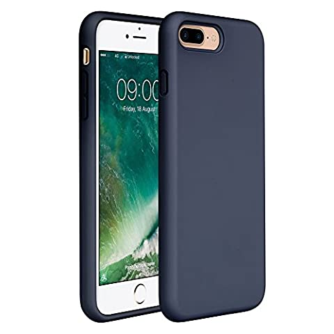 iPhone 8 Plus Silicone Case, iPhone 7 Plus Silicone Case Miracase Silicone Gel Rubber Full Body Protection Shockproof Cover Case Drop Protection for Apple iPhone 7 Plus/ iPhone 8 Plus(5.5