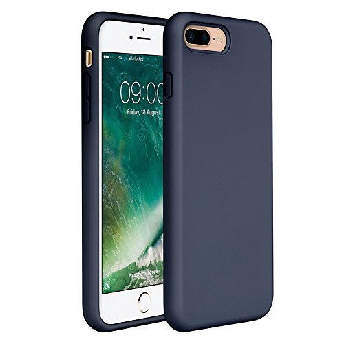 Design Silicone Protective Case - iPhone 8 Plus Silicone Case, iPhone 7 Plus Silicone Case Miracase Silicone Gel Rubber Full Body Protection Shockproof Cover Case Drop Protection for Apple iPhone 7 Plus/ iPhone 8 Plus(5.5