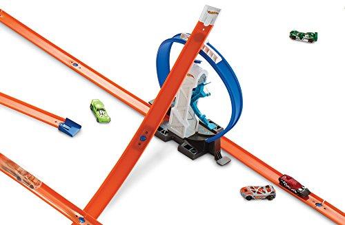 Hot Wheels- Pista con Il Lanciatore Loop per Macchinine, Include i Connettori e Un Veicolo, DMH51 4 spesavip
