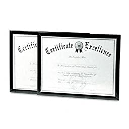 DAX Value U-Channel Document Frames with Certificates, 8.5 x 11 Inches, Black, Set of 2 (N17000NTP)