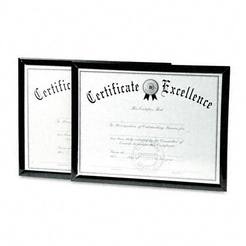 DAX Value U-Channel Document Frames with Certificates, 8.5 x 11 Inches, Black, Set of 2 (N17000NTP) (Dax Certificate Frame)