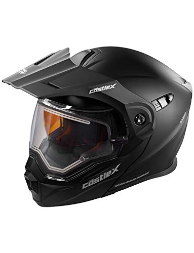 Castle X EXO-CX950 Electric Modular Snowmobile Helmet - Solid Matte Black - 3XL