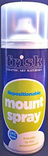 Frisk 400 ml Repositionable Mount Spray Can, Transparent 66000400