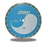 Zered C3GP14 14 in. Sintered General Purpose Diamond Concrete Saw Blade