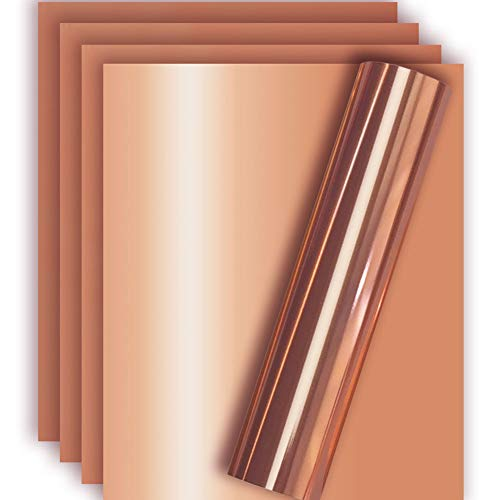 Rose Gold Metallic Foil HTV Heat Transfer Vinyl for Tshirt and Apparel 12