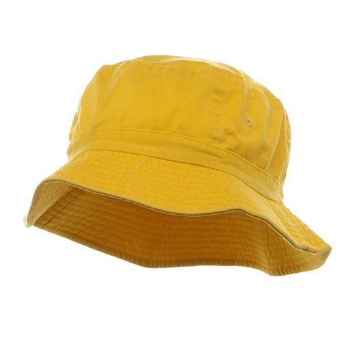 Yellow Bucket Hat - Cameo Pigment Dyed Bucket Hat-Yellow