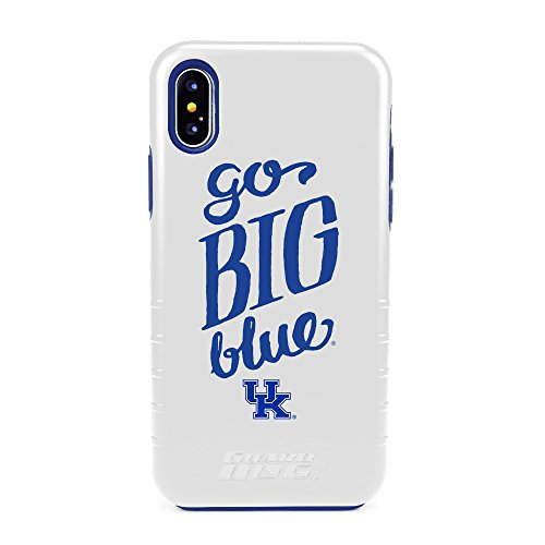 (Guard Dog Kentucky Wildcats Go Big Blue Hybrid Case for iPhone X/Xs - White)