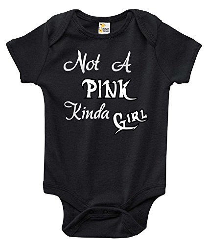 Not A Pink Kinda Girl Baby Bodysuit Cute Baby Clothes for Infant Girls (3-6 Months) -