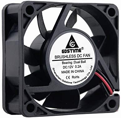 60mm x 60mm x 25mm Dual Ball Bearings 12V DC Brushless Cooling Fan GDSTIME 60mm Fan