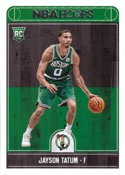 2017-18 Panini NBA Hoops Basketball #253 Jayson Tatum Rookie Card - Boston Celtics
