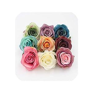 10 pcs Artificial Silk Roses Flower Head Wedding Party Decoration 36
