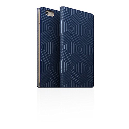 Click to buy SLG Design D4 Edition D4 Metal Foil Leather Case for Iphone 6/6s (NAVY) - From only $139