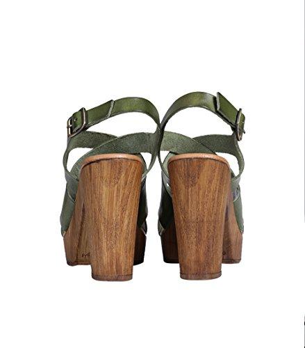 Sandalo Da Donna La Fairy Maraboutee In Pelle Verde 709 Vert