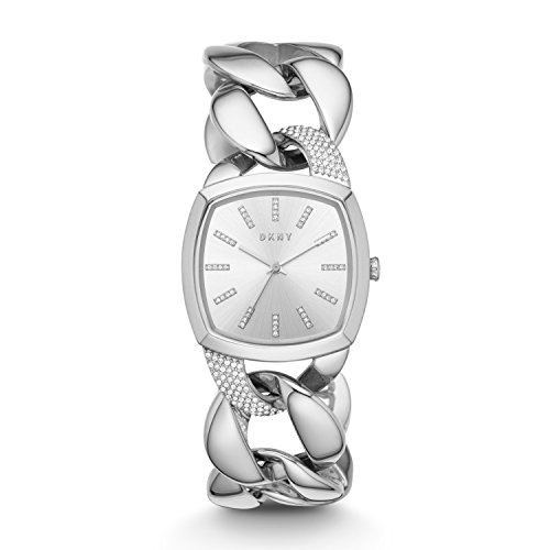 DKNY Women's 'Chanin' Quartz Stainless Steel Casual Watch, Color:Silver-Toned (Model: NY2569)