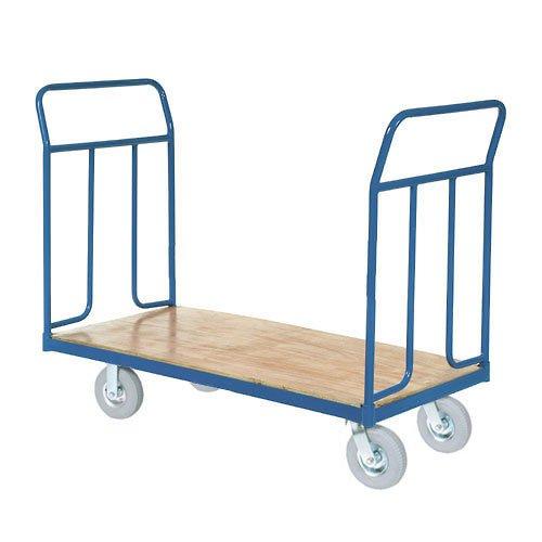 (Wood Deck Platform Truck w/Removable Handles, 1200 Lb. Capacity,8