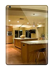 New Cute Funny Spacious Neutral Contemporary Kitchen With Bar Stools Amp Wood Cabinets Case Cover/ Ipad Air Case Cover