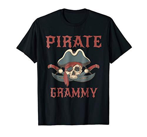Pirate Grammy Funny Skull Adult Gift Halloween Tshirt ()
