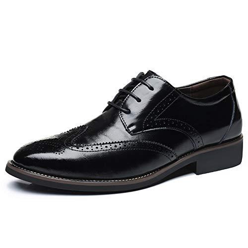 - Men's Dress Business Oxford Classic Plain Toe Modern Leather Shoes (Black 46/11 D(M) US Men)