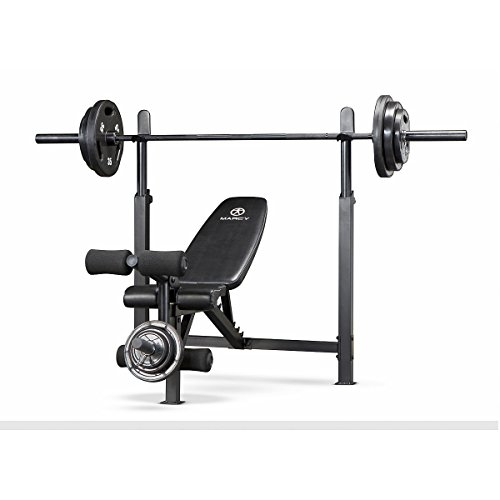 Marcy MWB-732 Olympic Bench, Black