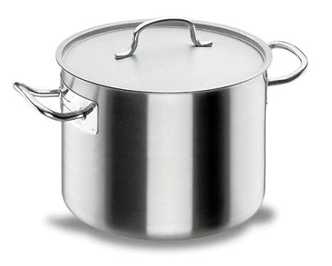 Lacor Chef-Classic 50127 - Olla baja con tapa, Acero Inoxidable 18/10, 28 cm