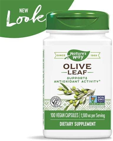 Nature s Way Premium Herbal Olive Leaf, 1,500 mg per serving, 100 Capsules Packaging May Vary