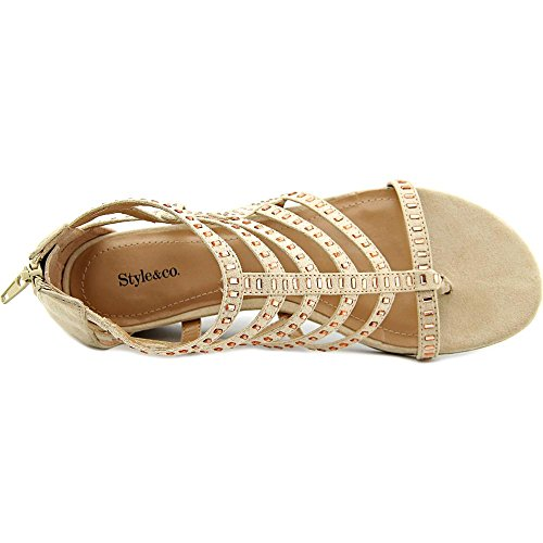Style & Co Bradey Mujer US 7.5 Crema Sandalia