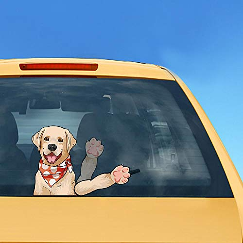 Labrador Dog Waving Wiper Decals PVC Car Styling Rear Window Wiper Stickers for Auto Products Car Stickers and Decals
