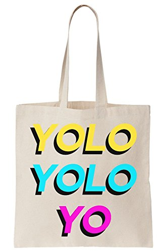 Yo Once Design Live Colorful Yolo You Bag Only Yolo Tote Canvas CxYU5gn