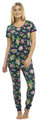 Foxbury - Pijama de una pieza - Floral - para mujer Blau - Navy / Floral