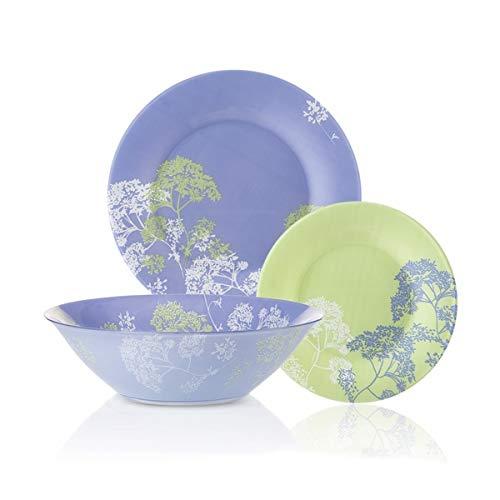 Luminarc Dinnerware Set Purple Mix & Match 19-Piece for 6 Persons