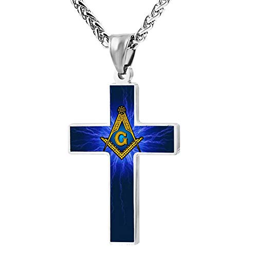 M100% 2018 Freemason Information Metal Religious Zinc Alloy Stainless Silver Steel Cross Necklace Holder Pearl Chain Urn Pendants