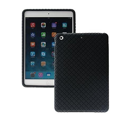 ScintiSpot iPad Mini 3 / iPad Mini 2 / iPad Mini Silicone Back Cover Case, Soft Rubber Gel Protective Case for Apple iPad Mini 1/2/3 Generation Tablet, Drop Proof Shockproof (Ipad 3 Soft Gel Case)