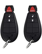 SaverRemotes 3 Button Key Fob Compatible for Dodge Challenger, Charger, Grand Caravan, Chrysler 300, RAM 1500 2500 3500 Keyless Entry Remote Replacement for M3N5WY783X IYZ-C01C
