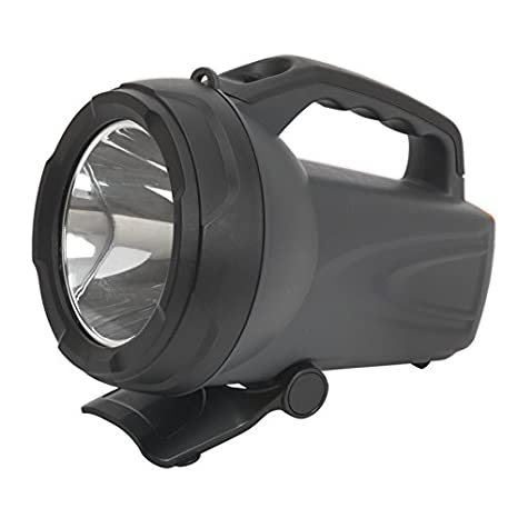 Sealey LED438 CREE LED Rechargeable Spotlight, 10 W, Black